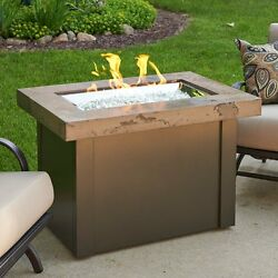 Outdoor Fire Pit Table with Free Burner Cover LP or Natural Gas Patio Porch NEW
