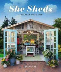 SHE SHEDS - KOTITE ERIKA - NEW HARDCOVER BOOK