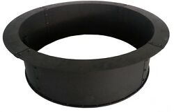 Fire Ring in Black 34 in. Large Wood Capacity Solid Steel Heavy Duty
