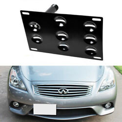 JDM Bumper Tow Hook License Plate Mount Bracket For Nissan Juke Rogue Infiniti