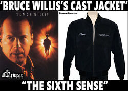 Authentic BRUCE WILLIS Screen Used & Worn SIXTH SENSE Movie Prop Crew Jacket M L