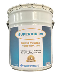 RV & Mobile Home Roof Coating EPDM TPO 5 Gallons 15 Year Guarantee
