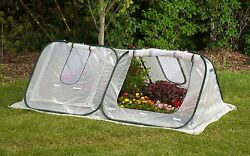 Portable & Lightweight Mini Greenhouse - 8' Movable Plant Green House w Covers
