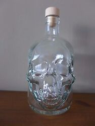 Skull Shape Glass Bottle collection shop hobby kitchen pub perfect gift 0.7ltr GBP 24.00