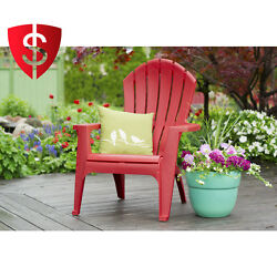 Stackable Patio Chair Adirondack Patented Curved Lumber Furniture Resin Red