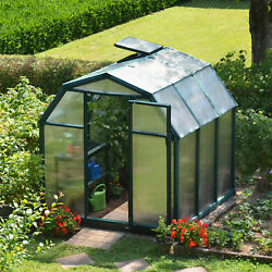 Rion Greenhouses EcoGrow 2 Twin Wall 6 Ft. W x 6 Ft. D Greenhouse