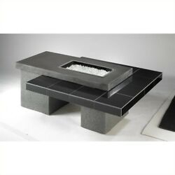 Outdoor Greatroom Company Uptown Fire Pit Table with Granite Tile and Superca...