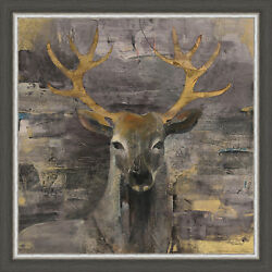 Ashton Wall Décor LLC Wildlife and Lodge 'The Leader Gold' Framed Painting Print