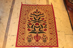 ANTIQUE ORIGINAL PERFECT COTTON AND SILK ASIAN INDIAN TEXTILE