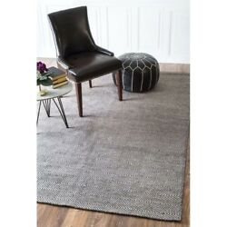 Nuloom 9' X 12' Hand Woven Ago Rug Area Rugs Natural Fibers Wool In Gray