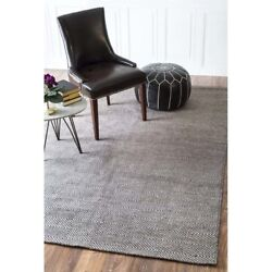 Nuloom 10' X 14' Hand Woven Ago Rug Area Rugs Natural Fibers Wool In Gray