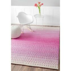 Nuloom 7' 6 X 9' Hand Tufted Blush Rug Area Rugs Natural Fibers Wool In Pink