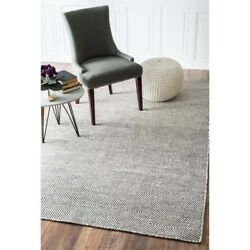Nuloom 9' X 12' Hand Woven Ago Rug Area Rugs Natural Fibers Wool In Ivory