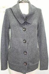 LABEL THREAD Gray Wool Cashmere Blend Oversized Collar Sweater Sz S