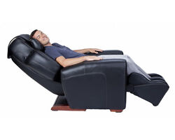 BLACK LEATHER AcuTouch 9500 Human Touch Massage Chair Lounge Recliner