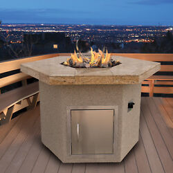 Cal Flame Dining Height Porcelain Fire Pit Table