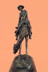 Sculpture Statue 43 Lbs Outlaw By Frederic Remington Figurine Decor Western DB