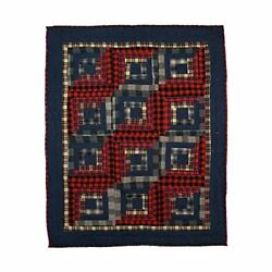 Patch Magic 36in by 46in Red Log Cabin Quilt Crib Quilts New