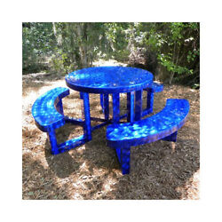 OFAB Round Picnic Table with Bench