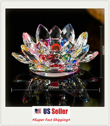 Crystal Lotus Flower Candle Stand Holder Tea Light Deco Gift $16.88