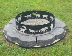 Large Steel Firepit Ring Camping Outdoor Fire Pit Camp Campfire Cooking Barbecue