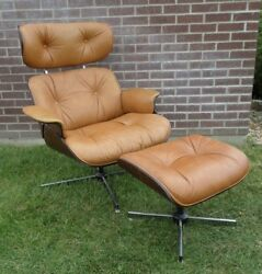 Vintage Plycraft Eames Style Mid Century Modern Lounge Chair and Ottoman