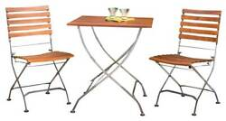 Garden Galleria Square Table with 2 Galleria Folding Chairs [ID 2260485]