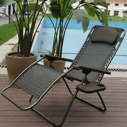 Abba Patio Reclining Zero Gravity Chair with Cushion