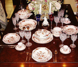 Vintage New Limoges China 51 Pc Raynaud Co Model Sakai Porcelain Table Service