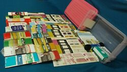 LARGE Lot of MISCELLANEOUS Vintage and New Sewing Supplies wPlastic Storage Bin