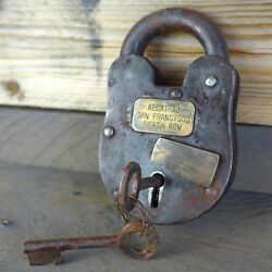 Alcatraz San Francisco Death Row 3quot; x 5quot; Cast Iron Lock amp; Keys Antique Finish $49.99