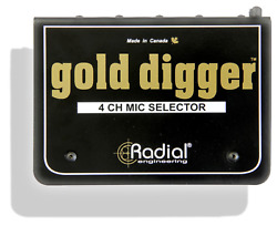 Radial Gold Digger Passive 4x1 selector use to compare 4 mics BEST OFFER R098