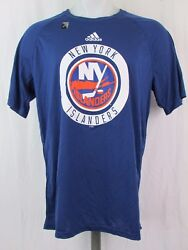 New York Islanders adidas NHL Climalite Men's Ultimate Practice T-shirt Blue