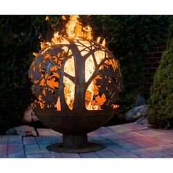 Fire Pit Outdoor Patio Decoration Fancy Flames Globe Leaf Fire Pit Wood Burning