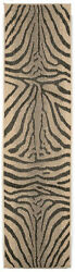 World Menagerie Slimane Charcoal Zebra IndoorOutdoor Rug