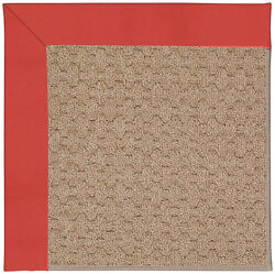 Capel Rugs Zoe Grassy Mountain Machine Tufted Sunset Red IndoorOutdoor Area Rug