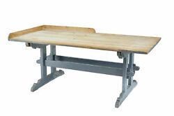 LARGE 19TH CENTURY SWEDISH PINE BAKERS TABLE