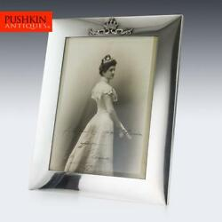 ANTIQUE 20thC ITALIAN ROYAL SOLID SILVER LARGE PHOTO FRAME MUSY c.1900