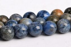 6MM Natural South Africa Blue Dumortierite Grade AAA Round Loose Beads 15.5
