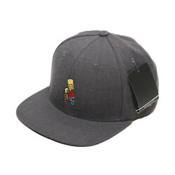 Unisex Mens The Simpsons Bart Skateboard Baseball Cap Snapback Hats Charcoal