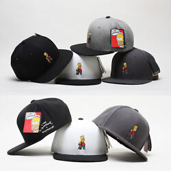 Licensed Unisex Mens The Simpsons Bart Skateboard Baseball Cap Snapback Hats