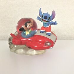 Very Rare limited to 350 pieces Disney Lilo & Stitch snow glove dome From JAPAN