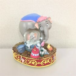 USA  Disney Auction Limited to 350 pieces  Dumbo & Mama Snow Glove Snow Dome