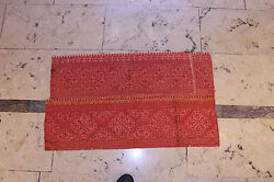 ANTIQUE ORIGINAL PERFECT COTTON AND SILK ASIAN MOROCCO AMAZING TEXTILE