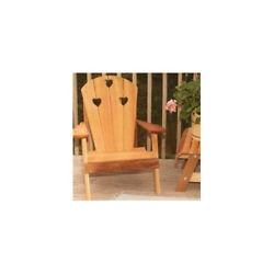 Creekvine Designs Cedar Country Hearts Adirondack Chair Collection