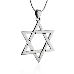Star of David Pendant Necklace 925 Sterling Silver Jewish Shield Gift SN $30.00