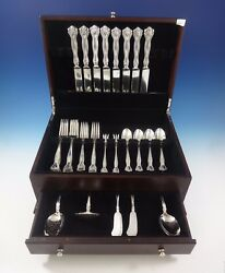 Raleigh by Alvin Sterling Silver Flatware Set For 8 Service Dinner 51 Pieces