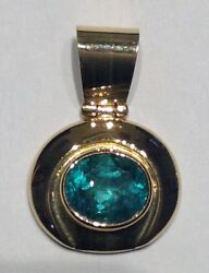 GIA Certified 18k Gold and Emerald Pendant
