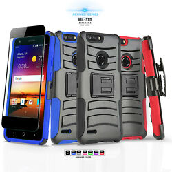 for ZTE BLADE X (Z965) [Refined Series] Phone Case & Holster +Tempered Glass
