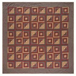 Quilt with Log Cabin Block Patchwork [ID 3445156]